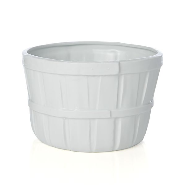 Ceramic Bushel Basket