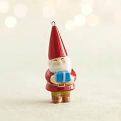 Ceramic Gnome with Present