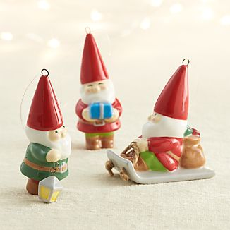 Ceramic Gnome Ornaments