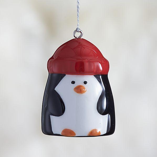 Ceramic Holiday Penguin Ornament