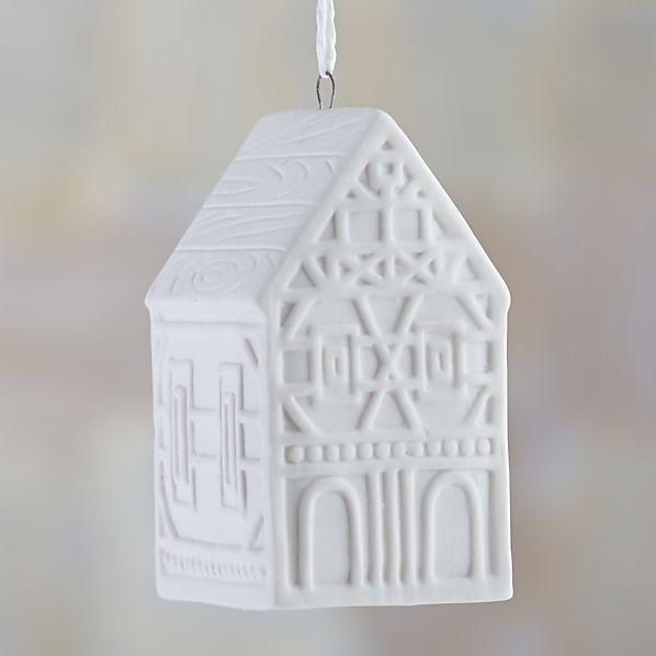 "Ceramic 3.5"" House Ornament"