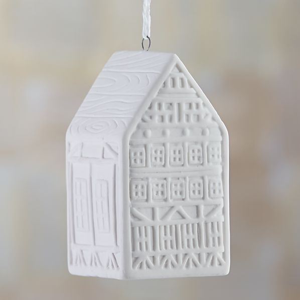 "Ceramic 3"" House Ornament"