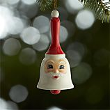 Ceramic Santa Bell Ornament