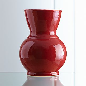 Cerise Large Red Vase