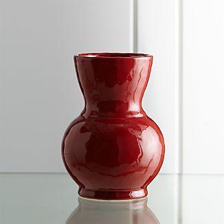 Cerise Medium Red Vase