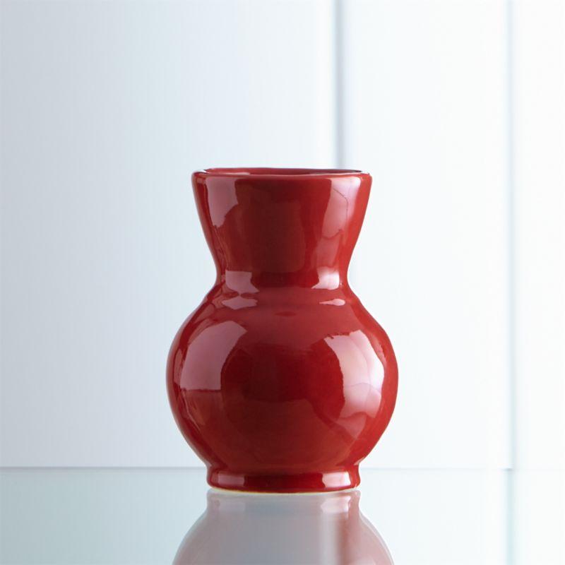 Cerise Mini Red Vase