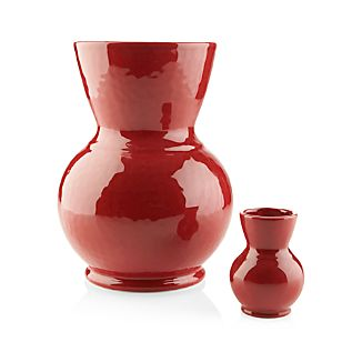 Cerise Red Vases