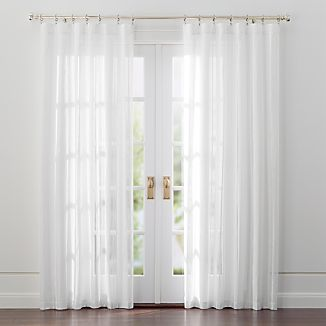 Chadwick Off-White Sheer Linen Curtains