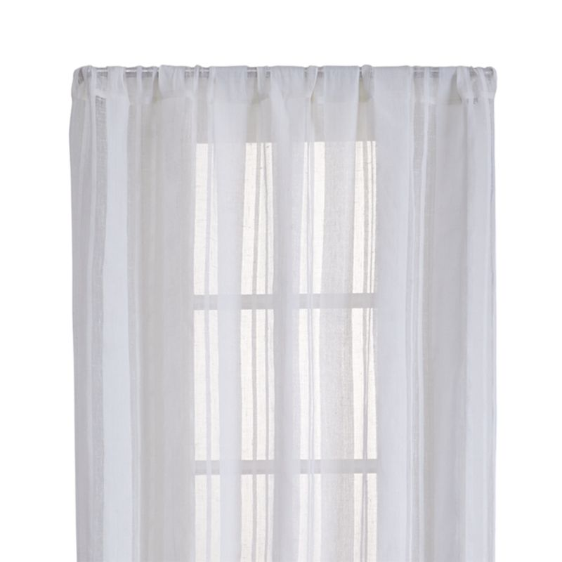 "Chadwick 48""x96"" Off-White Sheer Linen Curtain Panel"