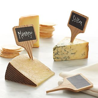 Set of 6 Chalkboard Cheese Markers