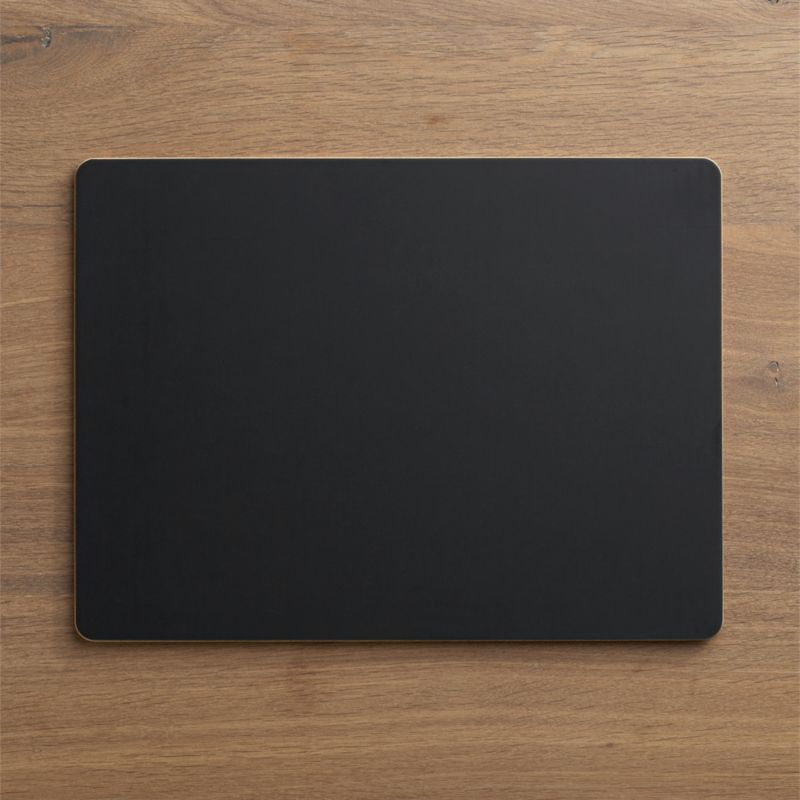 Wipe-away chalkboard surface makes each meal a clean slate, ready for doodling, place names or a preview of tonight's menu. Great as a conversation-starter at dinner parties and a natural at children's parties.<br /><br /><NEWTAG/><ul><li>Engineered wood with non-toxic chalkboard paint</li><li>Wipe clean</li><li>Made in USA</li></ul>
