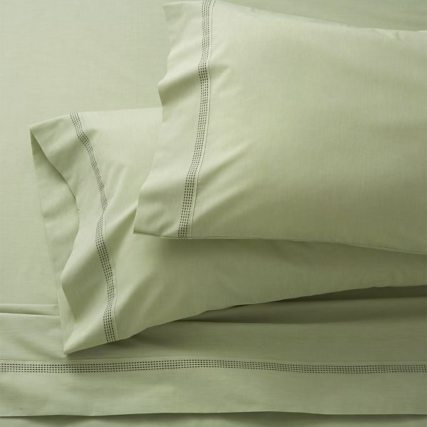 Chambray Green Queen Sheet Set