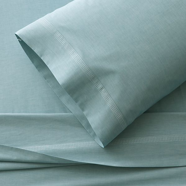 Chambray Blue Twin Sheet Set