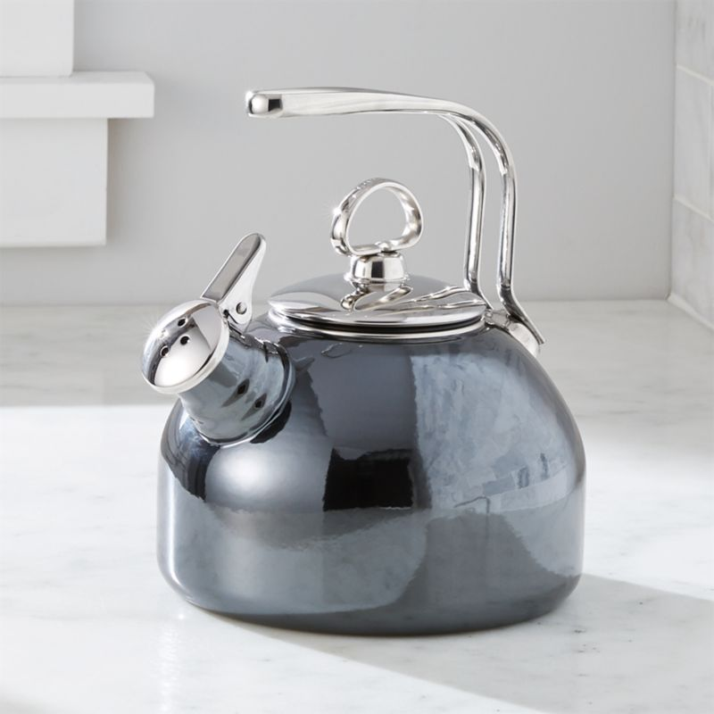 Chantal Whistling Tea Kettle In Onyx Crate And Barrel