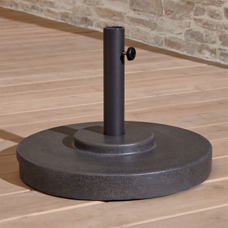 Small Charcoal Outdoor Patio Umbrella Stand Crate And Barrel