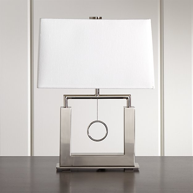 Charles Nickel Table Lamp