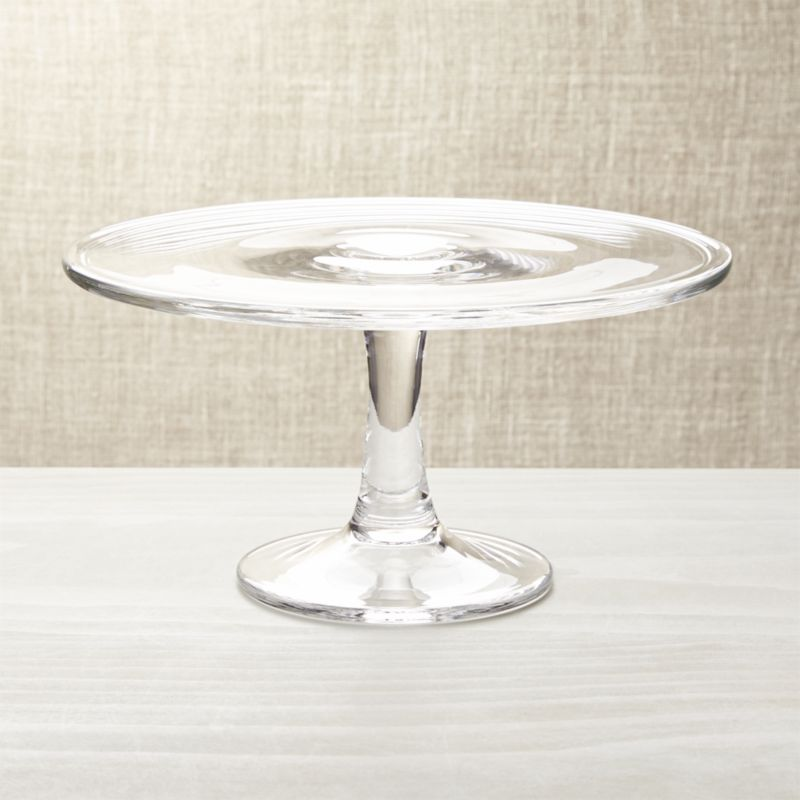Classic pedestal in handmade glass makes a beautiful presentation of desserts, finger foods, cheeses and confections.<br /><br /><NEWTAG/><ul><li>Handmade glass</li><li>Durable, scissor-cut rims</li><li>Hand wash</li><li>Made in Poland</li></ul>