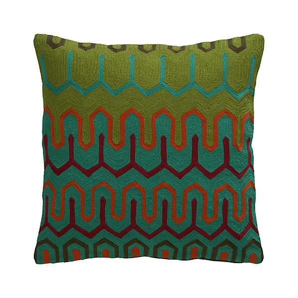 """Chea 18"""" Pillow with Down-Alternative Insert"""