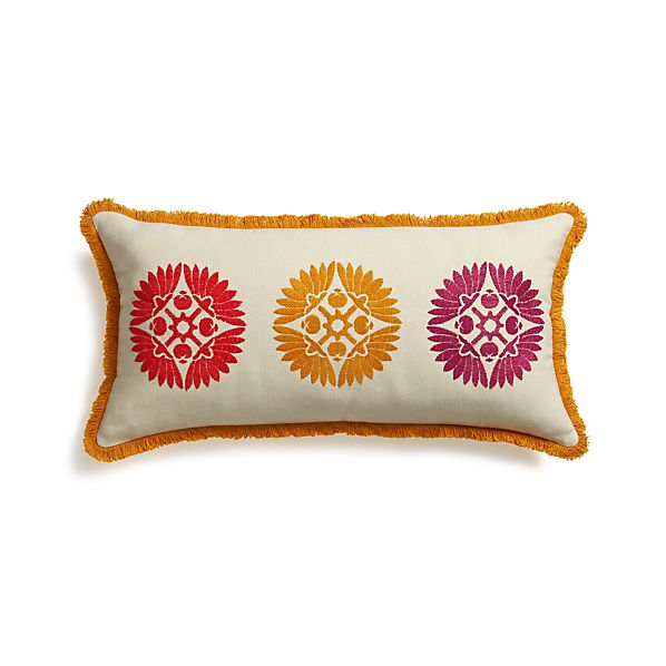 "Cheema 24""x12"" Pillow with Feather-Down Insert"