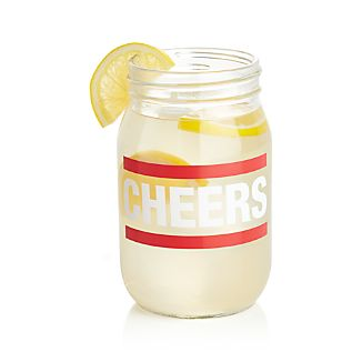 Cheers Canning Jar Glass