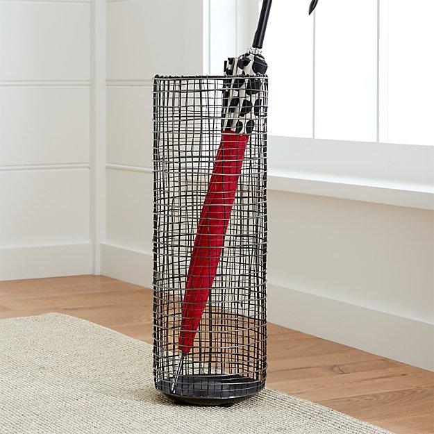 chelsea umbrella stand crate and barrel. Black Bedroom Furniture Sets. Home Design Ideas