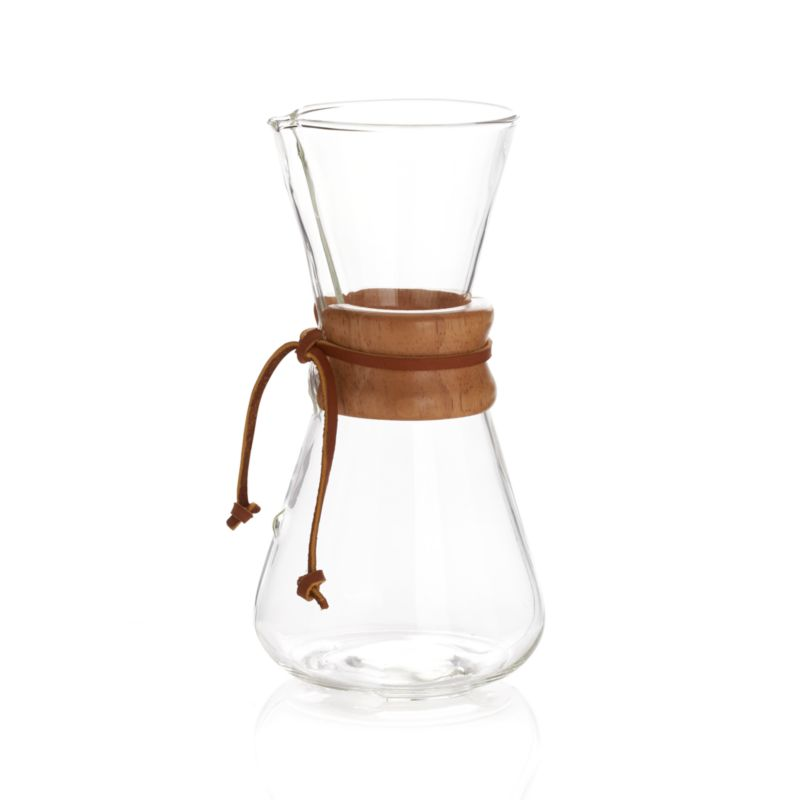 How To Use The Chemex Coffee Maker : Chemex 3-Cup Coffee Maker Crate and Barrel