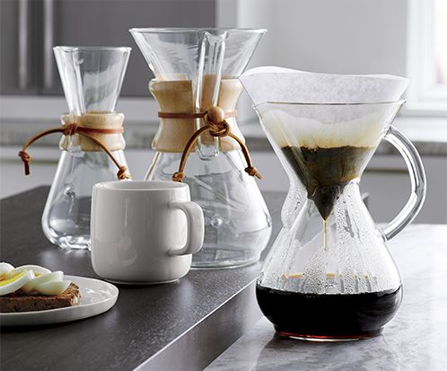 Chemex pour over coffee makers