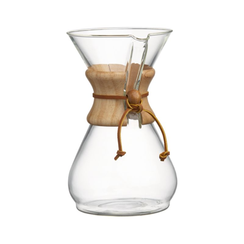 Chemex 8-Cup Coffee Maker in Pour Over & French Press Crate and Barrel