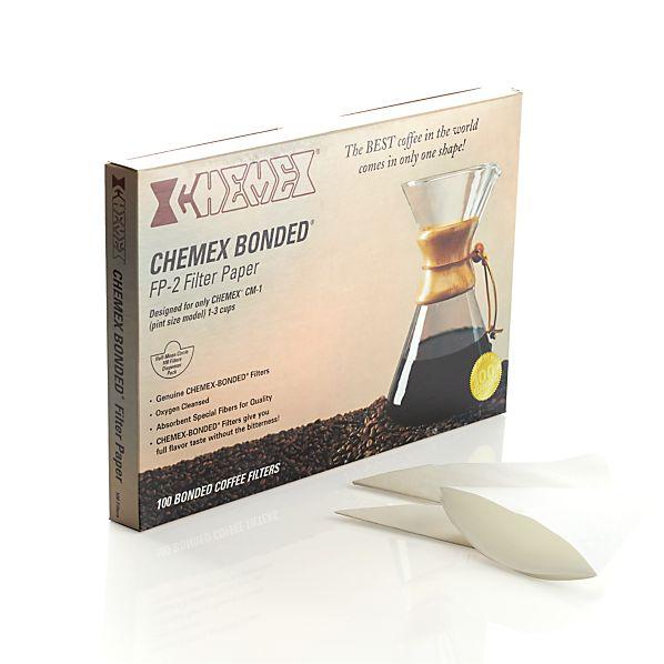 of 100 Chemex Half Moon Filters in Coffee & Tea Accessories | Crate