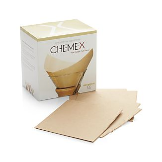 Set of 100 Chemex Natural Unbleached Square Filters