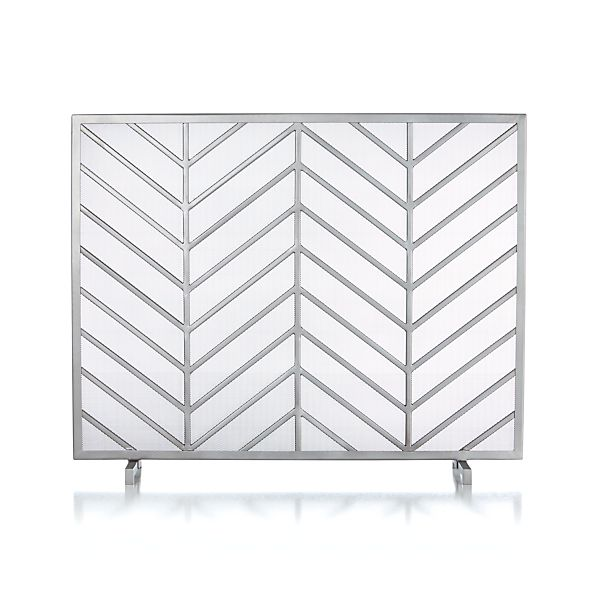 Crate and Barrel Chevron Fireplace Screen