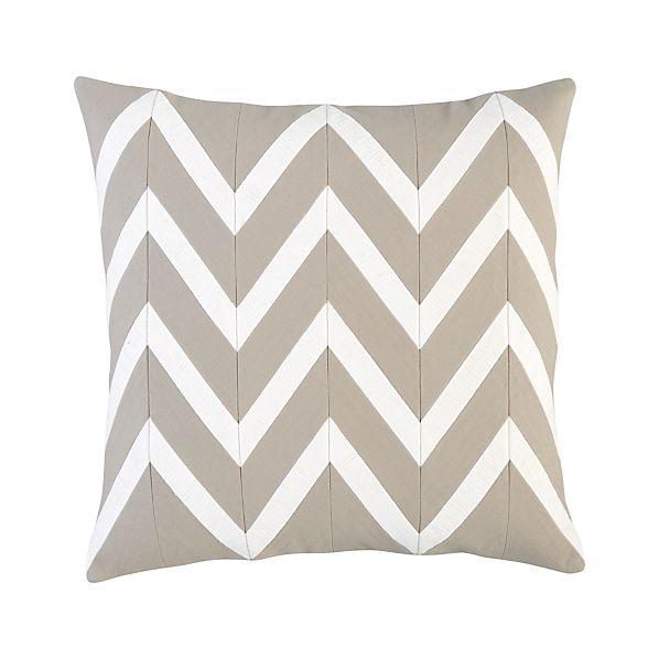 """Chevron Off-White 18"""" Pillow"""