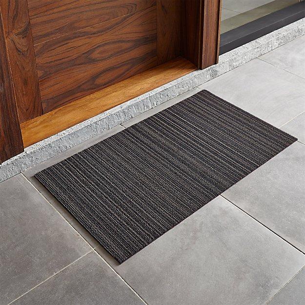 Chilewich steel 20 x36 doormat crate and barrel for Indoor front door mat