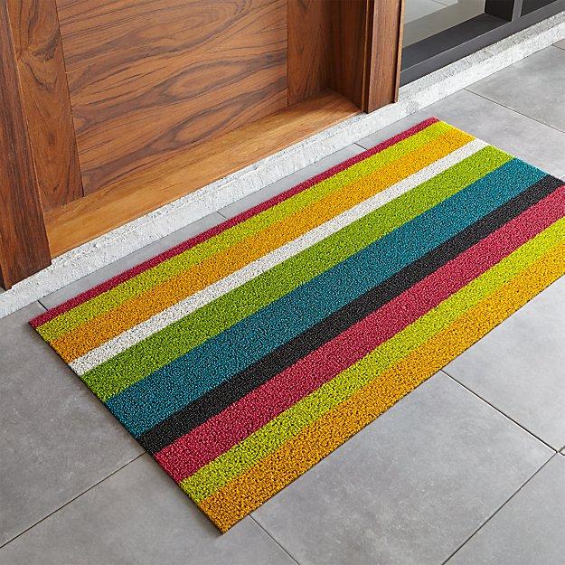 "Chilewich ® Multi Thick Striped 24""x48"" Doormat"