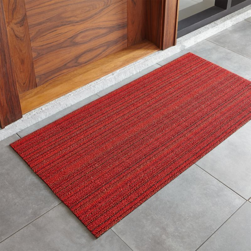 "Chilewich ® Red Striped 24""x48"" Doormat"