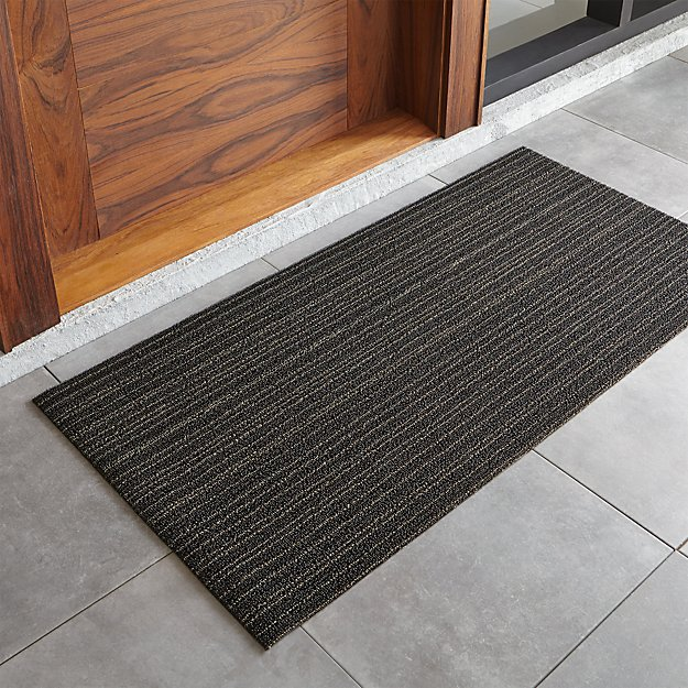 """Chilewich ® Steel Striped 24""""x48"""" Doormat"""