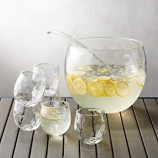 8-Piece Chill Acrylic Punch Bowl Set