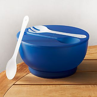 Chill Blue Bowl With Servers