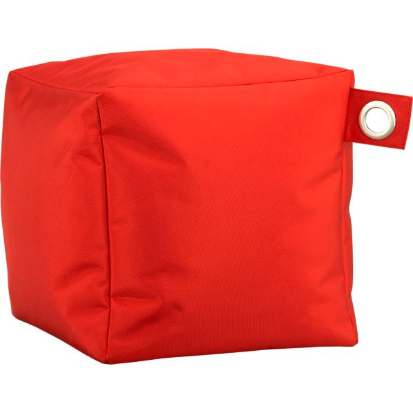 Chill Red Ottoman