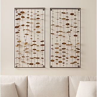 Set of 2 Chimes Metal Wall Sculptures