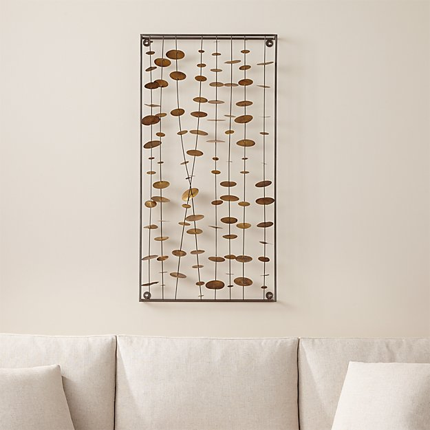 Chimes Metal Wall Sculpture | Crate and Barrel