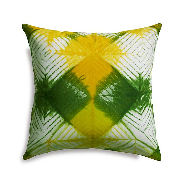 "Chisaki 18"" Pillow with Feather-Down Insert"