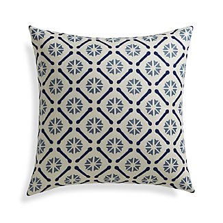"Chloe 20"" Pillow with Feather-Down Insert"