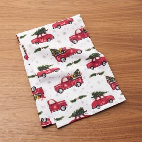 Christmas Car Dish Towel