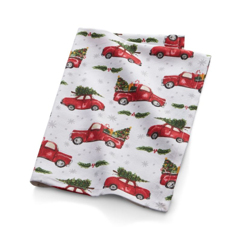 Christmas Car Dish Towel