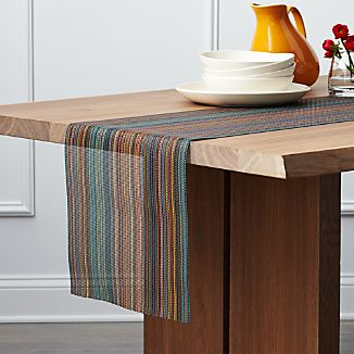 Chilewich ® Chroma Dark Stripe Vinyl Table Runner