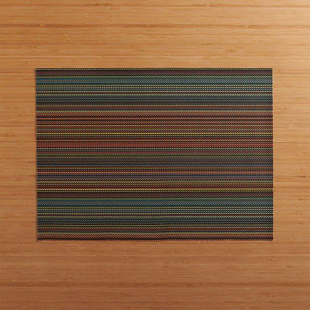 Chilewich ® Chroma Dark Stripe Vinyl Placemat