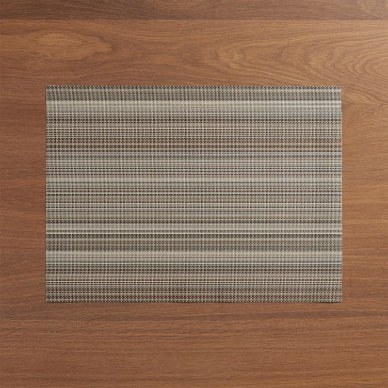 Chilewich 174 Chroma Grey Stripe Vinyl Placemat Crate And