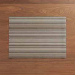 Chilewich Chroma Grey Stripe Vinyl Placemat