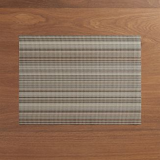 Chilewich ® Chroma Grey Stripe Vinyl Placemat